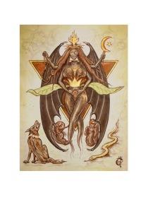 Regina Amandrakina, signed color print, 110 x 148 mm