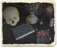 'Sigilla Magica Plantarum' card set on altar, photo by Soror A.V.A.